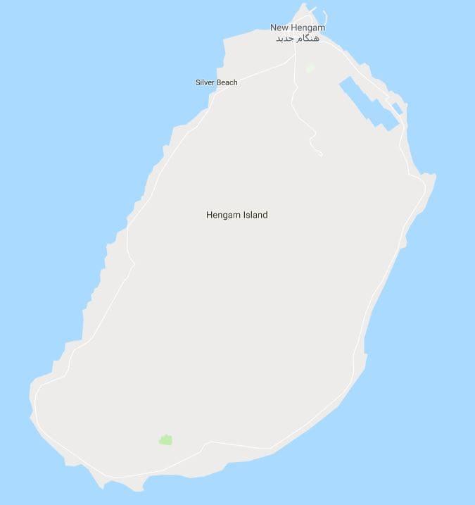 نقشه جزیره هنگام